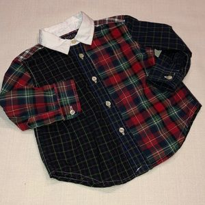 Baby Boy Polo Ralph Lauren Poplin Plaid Shirt